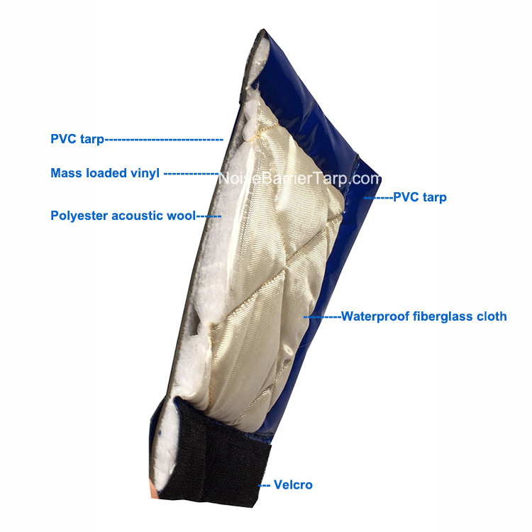 Construction Site Tarps Noise Barrier Tarpaulin PVC Tarps Construction Tarp