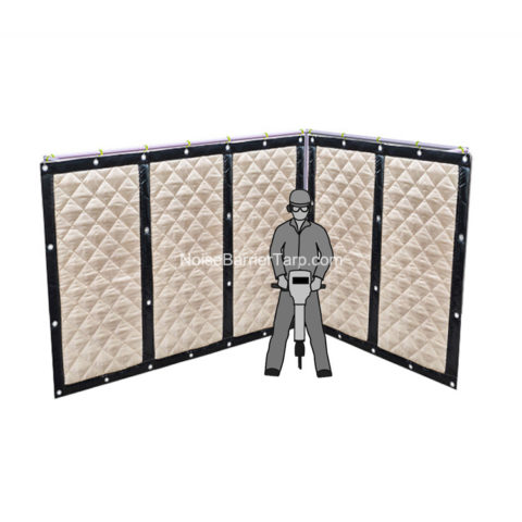Temporary Noise Screens Tarpaulin Screen Sound Reducing Screens Sound Blocking Screen